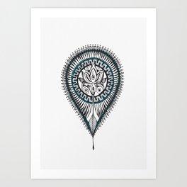 Lotus Drop Art Print