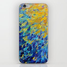 AQUATIC MELODY - Lovely Bright Abstract Ocean Waves Acrylic Painting Colorful Rainbow Beach Gift Art iPhone Skin