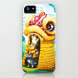 Lion Dancing Cats iPhone Case