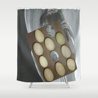 eggs Shower Curtains featuring eggs by anitaa