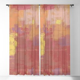Color Splendor by Kathy Morton Stanion Sheer Curtain