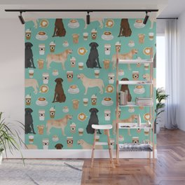 Labrador retriever gifts for lab owners golden retriever chocolate lab black lab dog breeds Wall Mural