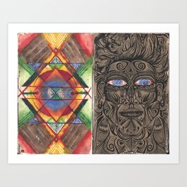 Tantric 4 (Travel Journal Entry) Art Print