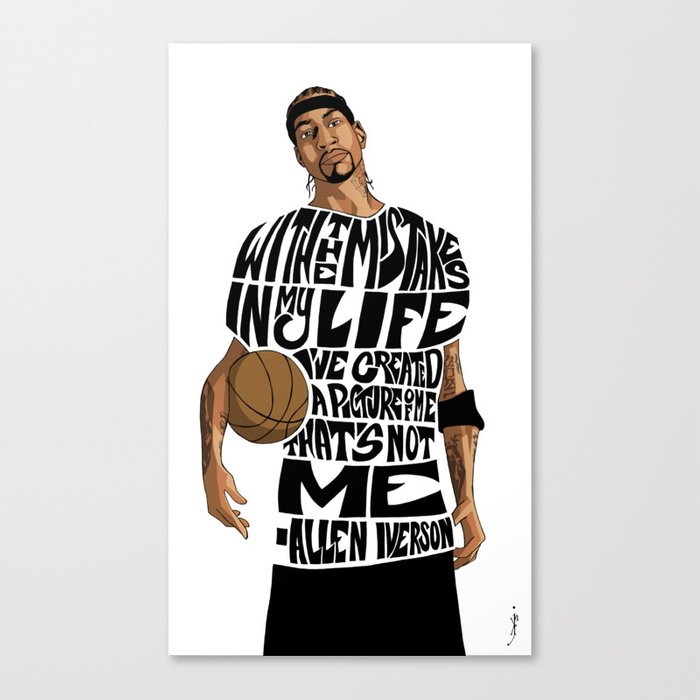 3405803f7bb8a Allen Iverson Canvas Print by kennethjfranklin