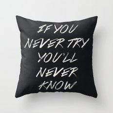 II. If you never try Throw Pillow
