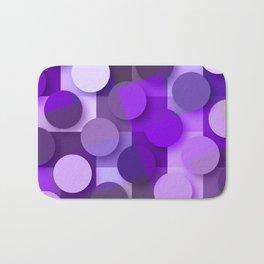 squares & dots violet Bath Mat
