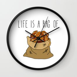 Life Is a Bag of... Wall Clock