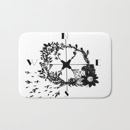 Compass Rose Garden Bath Mat