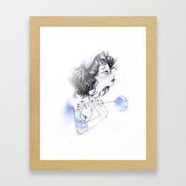 Snake Lady Framed Art Print