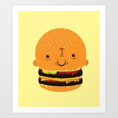 Cheeseburgerhead Art Print