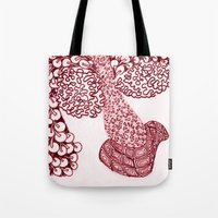 anchorman Tote Bags featuring Anchorman by Lady Tanya bleudragon