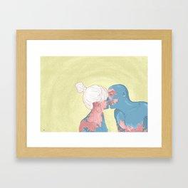 Beso/kiss Framed Art Print