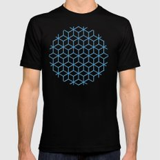 Cubes Mens Fitted Tee Black LARGE