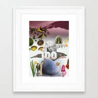 the 100 Framed Art Prints featuring 100 by amit sakal
