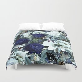 Vintage & Shabby Chic - Blue Winter Roses Duvet Cover