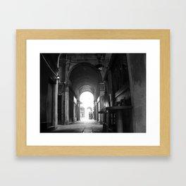 Italian perspective Framed Art Print