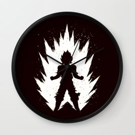 Super Saiyan Vegeta Black White Wall Clock