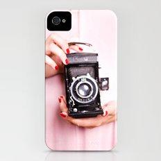 Vintage camera love iPhone (4, 4s) Slim Case