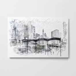 City Art CHICAGO Downtown Metal Print