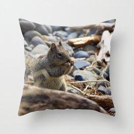 Squirrel Nibble Throw Pillow
