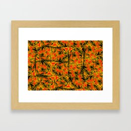 Golden Red Framed Art Print