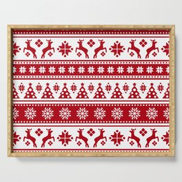 Christmas Holiday Nordic Pattern Cozy Serving Tray