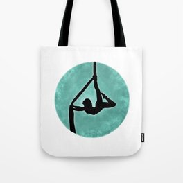 Aerial Silhouette on Paint Tote Bag