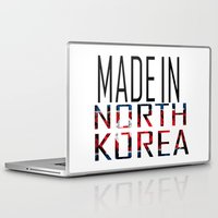 korea Laptop & iPad Skins featuring Made In North Korea by VirgoSpice
