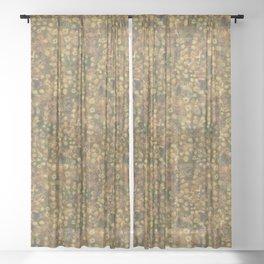 Golden Meadow Sheer Curtain