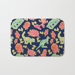 Australian Native Floral and Fauna Print Bath Mat