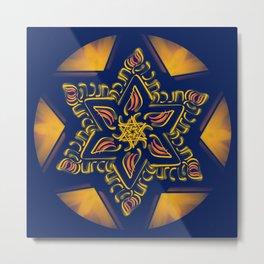 Hanukkah Star of David - 2 Metal Print