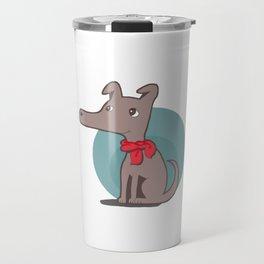 Dog with a Red Scarf Travel Mug