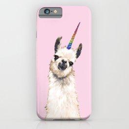 Unicorn Llama iPhone Case