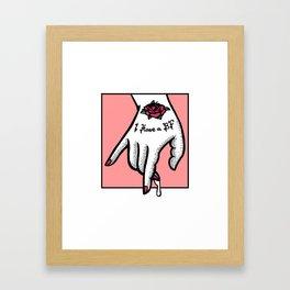I have a boyfriend Framed Art Print