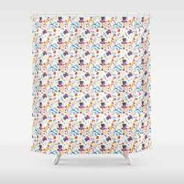 Alice in Wonderland - pattern Shower Curtain