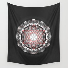Flower of Life + Metatrons Cube Wall Tapestry