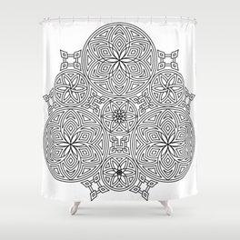 Balanced Flowering Hexad Shower Curtain