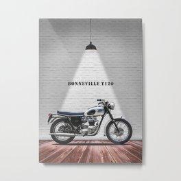 The 1963 T120 Bonneville Metal Print