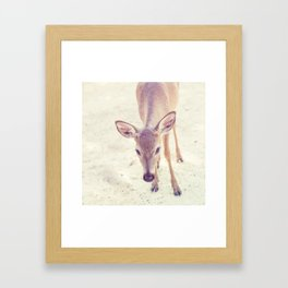 oh deer! Framed Art Print