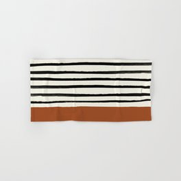 Burnt Orange x Stripes Hand & Bath Towel