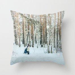 Snow white story Throw Pillow