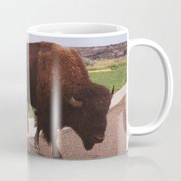 Buffalo Crossing the Road Coffee Mug