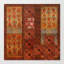 Vintage textile patches Canvas Print