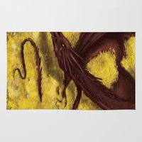 smaug Area & Throw Rugs featuring Smaug by toibi