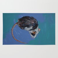mouse Area & Throw Rugs featuring Mouse by Michael Creese