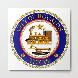 Houston City Seal Metal Print