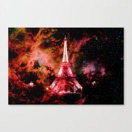 Paris Dreams Pink Orange Canvas Print