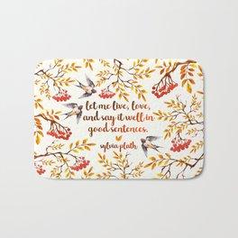 Sylvia Plath Birds Bath Mat