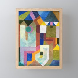 Paul Klee - Digital Remastered Edition - Colorful Architecture Framed Mini Art Print