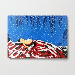 """Art Deco Design """"Sleeping Beauty"""" by Erté Metal Print"""